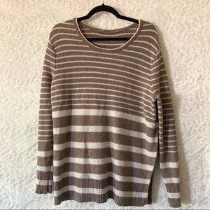 NWOT Athleta Striped Knit Sweater